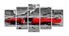 Cuadros en Lienzo 200 x 100 coche cm Nr. 6307 abstracto