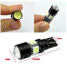 10x T10 W5W Car fog light 4SMD 5050 1.5W COB Projector lens signal Lighting bulb