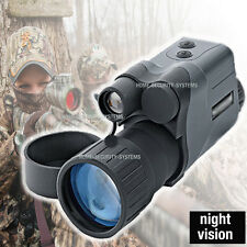 Video Camera Night Vision Goggles Monocular IR Surveillance Hunting Paintball
