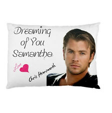 CHRIS HEMSWORTH Dreaming of You Personalized custom made pillow case