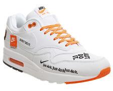 Nike AIR MAX 1 LX JUST DO IT UK 8 WHITE ORANGE am1 offwhite Brand NEW