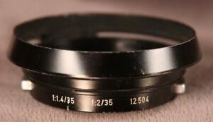 Leitz Wetzlar Hood 12504 for 35mm F1.4 or F2 M-mount Rangefinder Lenses