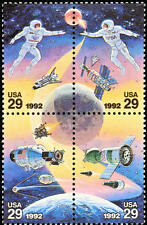 1992 29c Space Accomplishments, Block of 4 Scott 2631-34 Mint F/VF NH