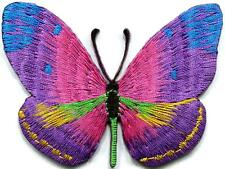 Butterfly hippie boho chic retro love peace groovy applique iron-on patch G-95