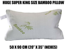 SUPER KING Bamboo Shredded Memory Foam Cool Cuddle Cloud Pillow Large OL12