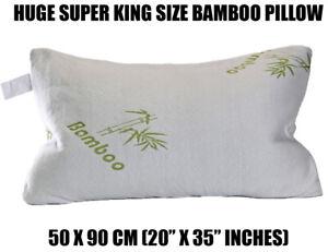 SUPER KING Bamboo Shredded Memory Foam Cool Cuddle Cloud Pillow Large OL12