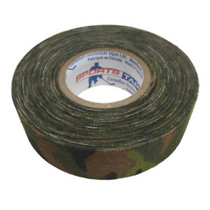 Pack of 3 Sportstape 24mm Green Camouflage Ice Hockey Cloth Stick Tape Grip Wrap