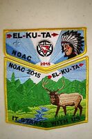 EL KU TA 520 GREAT SALT LAKE 2-PATCH 100TH OA CENTENNIAL 2015 NOAC FLAP SPRING