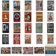 56 Patterns Retro Metal Tin Signs Vintage Wall Plaque Home Poster Decor Club Bar