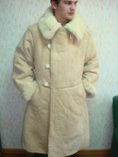 UdSSR Sowjetarmee Winter Schaffell Mantel TULUP Bekesha Sehr Warm Größe 48-54