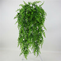 Artifical Vertical Leaves Plastic Plant Wall Hanging Home Room Decorated Leave