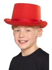 Kids Childs Size Top Hat Topper Showbiz Dance Boys Girls Fancy Dress Costume