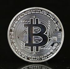 Silver Plated Bitcoin Coin Collectible BTC Coin Art Collection Gift Physical