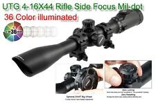 UTG SCP3-U416AOIEW  Rifle Scope 4-16X44 with SWAT Focus EZ-TAP 36 Color Reticle