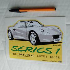 Lotus Elise S1 Series 1 One Sticker Decal shape cut grey 180mm x 115mm .