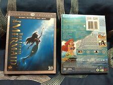 The Little Mermaid (Blu-ray 3D/DVD, 2013,3 Disc Set,Diamond Ed.*no digital copy*
