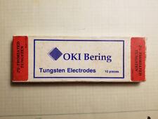 """Oki Bering (Sylvania) 1/16"""" x 7"""" 2% Thoriated Tungsten Tig Electrodes 10pk Usa"""