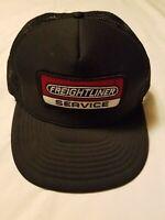 VTG Freightliner Service Black Mesh Snapback Trucker Hat Cap w Patch