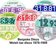 Replica / Reproduction Vintage Welsh Road Tax Disc 1970 - 1999  Bespoke Wales