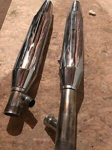 Harley Davidson twin cam softail FLSTF fatboy shotgun exhaust pipes headers
