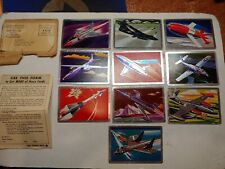 Vintage 50s Lever,Uncle Coons Fighters,Bombers,Rockets 10 Foil Trading Card Set