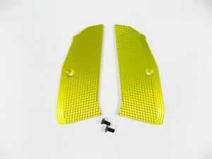 ZENDL® CZ 75 High Quality Grooved Grips - Made in Czech Republic - YELLOW