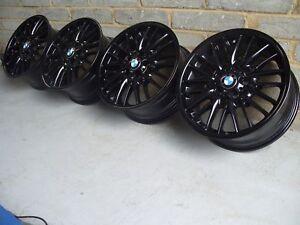 "Genuine BMW MV1 72M 18"" Alloy Wheels: GLOSS BLACK E36 E46 E85 E86 3 SERIES & Z4"