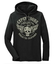 Gypsy Tours Hollister Cali 1947 Hooded Long Sleeve t-shirt Vintage Retro