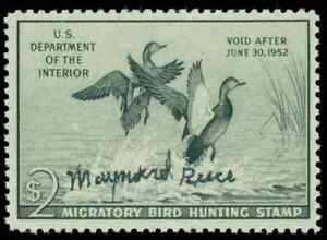 RW18 signed by stamp artist Maynard Reece