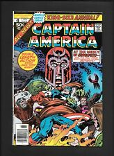 Captain America King Annual 4 Mutant Massacre Magneto Kirby Marvel Comic 1977