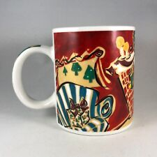 STARBUCKS Home For The Holidays Christmas Illustrated Coffee Mug by Mary Graves
