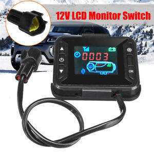 12V 3KW 5KW Car Truck Diesel Air Parking Heater LCD Monitor Switch Controller
