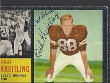 Cleveland Browns RICH KREITLING Signed Card