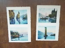 Brunner & C Como & Zurich Boats Fishing Net eliografico heliographic Vintage PCs