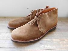 Alden for J.Crew Collabor flex-toe chukkas in suede 90868 $585 snuff brown 12