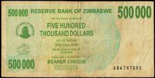ZIMBABWE Currency Bank Note 500000 Dollars