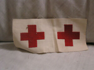 VINTAGE UNCUT RED CROSS CLOTHS PATCHES