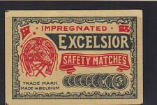 Ancienne   étiquette    allumettes  Belgique     AZ5017 Fer à Cheval 1
