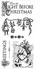 Night Before Christmas #1, Cling Style Unmounted Stamp Set GRAPHIC 45 NEW IC0320
