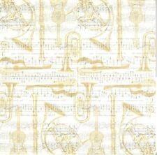 2 Serviettes en papier Musique Concerto Paper Napkins Music