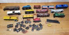Lot of 14 HO scale model railroad train lot cars Locomotives most need TLC