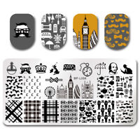 Nail Art Stamp Plates  Nail Image Stamping Template London Pattern