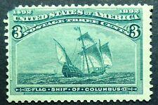 232 MDG 1893 3c Santa Maria Columbus flagship Columbian Exposition
