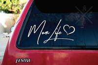 MOM LIFE decal sticker [ vinyl accent for car laptop journal]