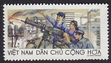 North Vietnam War Propaganda stamp anti-aircraft unit firing machine gun # 480