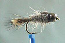 1 x Mouche de peche Nymphe Lievre BILLE NOIRE H10/12/14/16/18/20 fly fishing