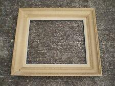 CADRE BOIS MOULURE 8F ANCIEN ENCADREMENT TABLEAU PEINTURE TOILE 46X38 FRAME