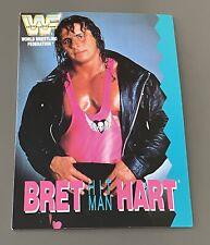 WWF BRET HITMAN HART BIRTHDAY CARD 1992 WWE WCW