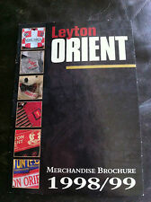 OFFICIAL MERCHANDISE CATALOGUE / BROCHURE - LEYTON ORIENT 1998-99