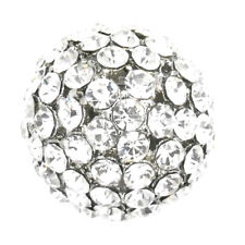 4d Ball Cocktail Adjustable Stretch Ring Fashion Jewelry Crystal Clear White New